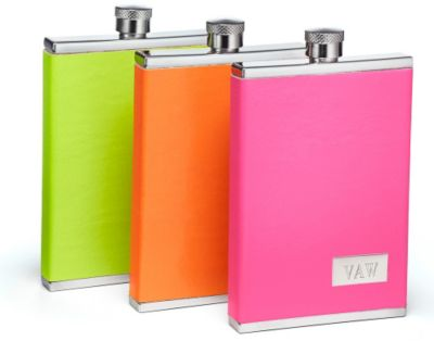 Neon Leather Flask