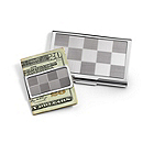 Pewter Card Holder and Money Clip Gift Set