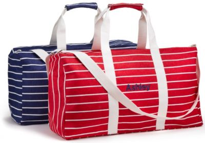 Striped Canvas Duffle