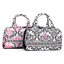Quilted Damask Folding Cosmetic Bag