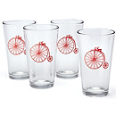 Bicycle Pint Glass Set