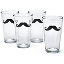 Mustache Pint Glass Set