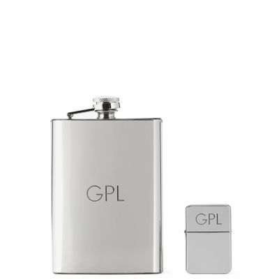 Flask & Lighter Gift Set