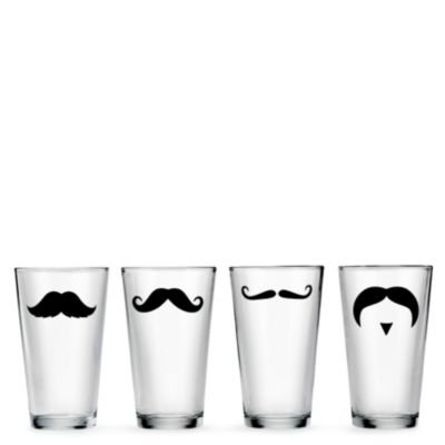 Pint Glass Set - Mustaches