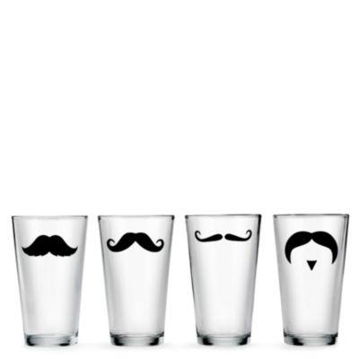Pint Glass Set - Mustaches
