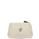 Personalized Linen Cosmetic Bag