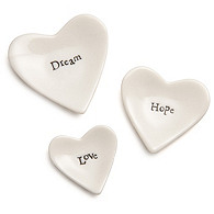 Love, Hope, Dream Mini Heart Set