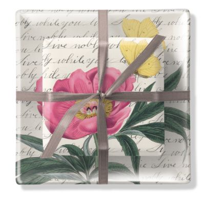 Floral Tray & Soap Set