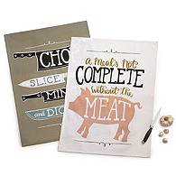 Meat & Knives Tea Towels