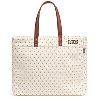 Gold Dots Canvas Tote