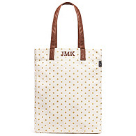 Gold Dots Canvas Market Tote