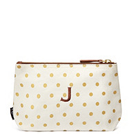 Canvas Pouch - Gold Dots