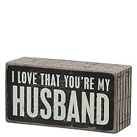 Box Sign - My Husband