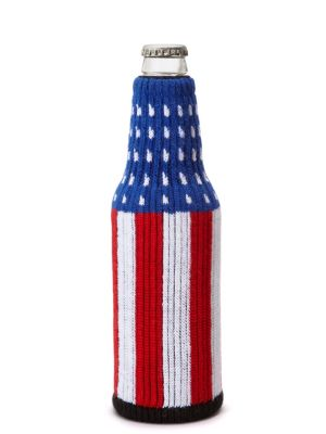 Freaker Knit Bottle Koozie - Flag