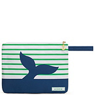 Canvas Wet Bikini Bag - Blue Splash