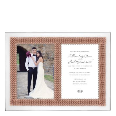 Lenox Aegean Rose Double Invitation Frame