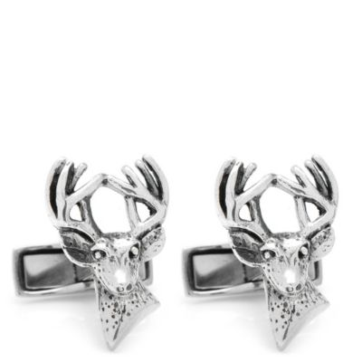 Sterling Deer Cuff Links