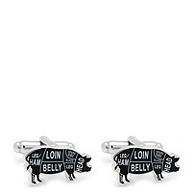 Butcher Cut Pig Cuff Links