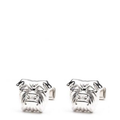 Sterling Bull Dog Cuff Links
