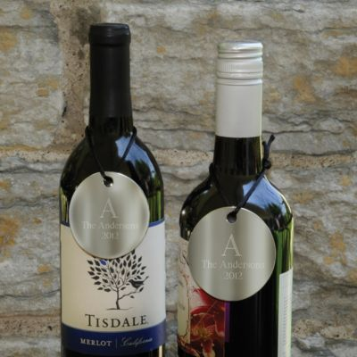Personalized Wine Bottle Medallions
