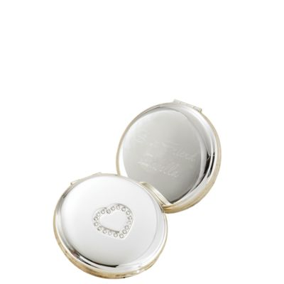 Personalized Sweetheart Silver-plated Compact