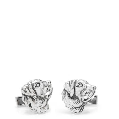 Sterling Labrador Cuff Links