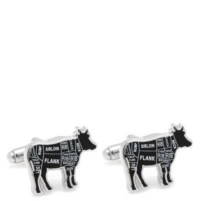 Beef Butcher Cuts Cuff Links
