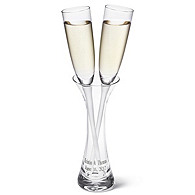 Vase and Toasting Flutes Set