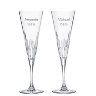 Vera Wang Duchesse Crystal Toasting Flutes