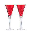 Waterford Crystal Lismore Crimson Flutes