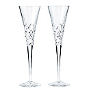 Waterford Crystal Wishes Toasting Flutes - Happy Celebrations