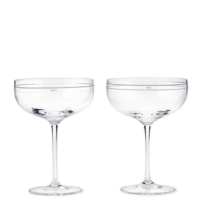 kate spade new york darling point champagne saucers