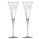 Lenox True Love Crystal Toasting Flutes