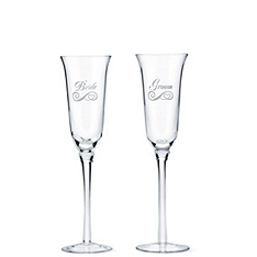 Bridal Party Engraved Flutes