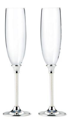 Lenox Jubilee Pearl Toasting Flutes