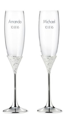 Vera Wang Lace Bouquet Toasting Flutes