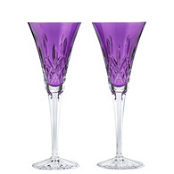Waterford Crystal Lismore Amethyst Flutes