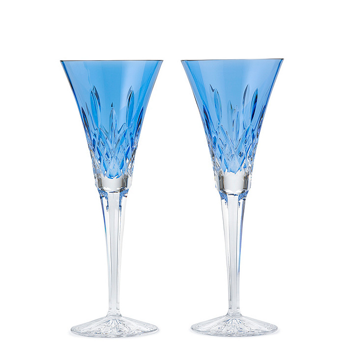 Waterford Crystal Lismore Sapphire Flutes