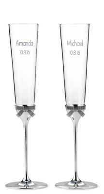 kate spade new york grace avenue toasting flutes