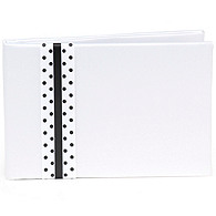 The Knot Polka-dot Collection Guest Book – Black and White