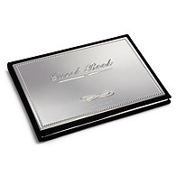 Engravable Silver Guest Book