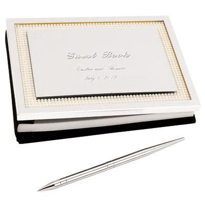 Lenox Jubilee Pearl Guest Book