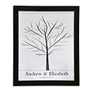 Canvas Signature Guest Book Print - Family Tree