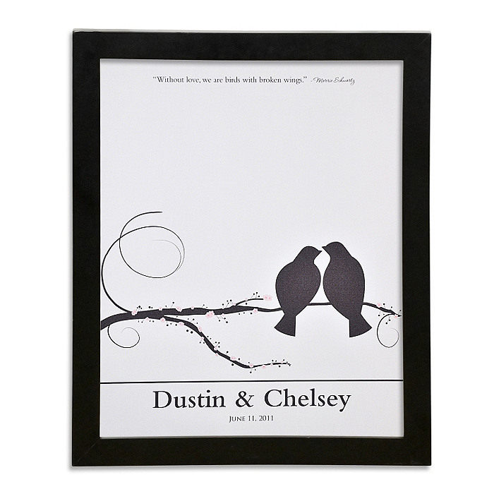 Canvas Signature Guest Book Print - Lovebirds