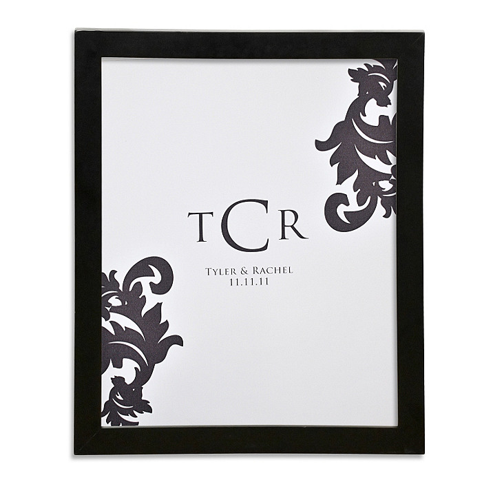 Canvas Signature Guest Book Print - Monogram