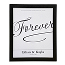Canvas Signature Guest Book Print - Forever