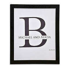 Canvas Signature Guest Book Print - Initial