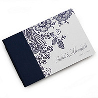 Prussian Lace Personalized Guest Book