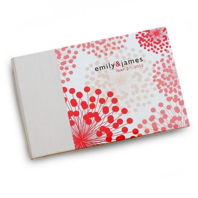 Coral Blooms Personalized Guest Book