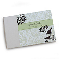 Aviary Damask Personalized Guest Book